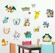 Pokemon Go Wall Decals Removable Vinyl Sticker Sheet Large 35 X12 Pikachu Mew Ebay