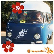 Vw Vinyl Flower Decal For Vehicles Made From Durable Colourfast Vinyl In The Uk