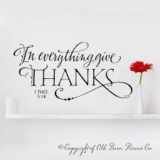 In Everything Give Thanks Scripture Wall Art Hand Drawn Old Barn Rescue