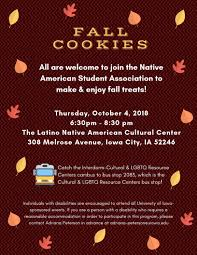 Native American Student Association: Fall Cookies