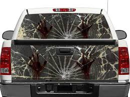 Product Zombie Hands Broken Glass Rear Window Or Tailgate Decal Sticker Pick Up Truck Suv Car