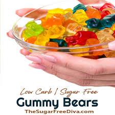 homemade sugar free gummy candy the