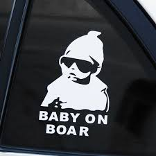 14 9cm White Black Baby On Board Car Decal Boy On Snowboard Vinyl Car Stickers Cool Car Window Decor Hot Selling L717 Car Tax Disc Holders Aliexpress