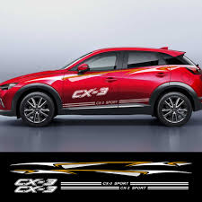 1set Car Reflective Vinyl Decals Auto Door Side Skirt Stickers For Mazda Cx 3 Auto Body Decor Waterproof Decals Car Accessories Car Stickers Aliexpress