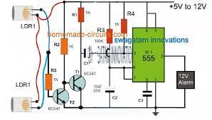 3 smart laser alarm protection circuits