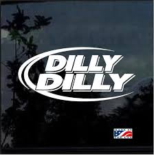 Dilly Dilly Beer Window Decal Sticker Custom Sticker Shop Window Decals Beer Stickers Car Decals Stickers