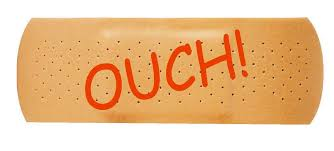 Ouch Band Aid Funny Bumper Sticker Or Helmet Sticker D626 Cover Dents Winter Park Products