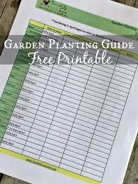 printable garden planting guide zone 5