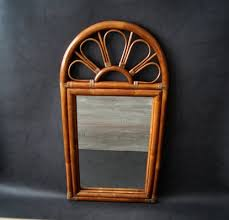 large french bamboo mirror 1960s for