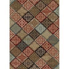 dalton new york mosaic brown area rug