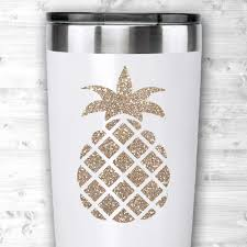 Amazon Com Glitter Gold Pineapple Vinyl Decal For Rtic Ozark Yeti Tumblers And Cups Planners Laptops Cars Etc Handmade
