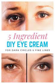 diy eye cream for dark circles and