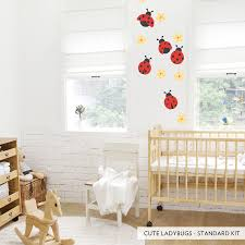 Cute Ladybugs Printed Wall Decal