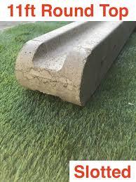 11ft 3300mm Premium Concrete Slotted Post Round Top