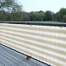 3 Ft Tall Black Green Privacy Fence Deck Screen Balcony Railing Shade Fabric Ebay