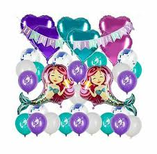 mermaid confetti balloons sequin