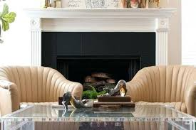 gas fireplace with tile surround black