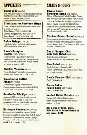 menu at famous dave s bbq philadelphia