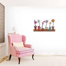 Shop Flower Pots Shelf Printed Wall Decal Overstock 22174554