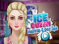 ice queen makeup and spa day frozen games