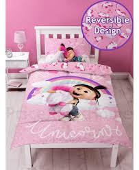 fluffy unicorn single panel duvet cover