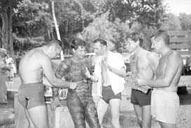 Florida Memory • Director Jack Arnold and Ricou Browning with crew ...