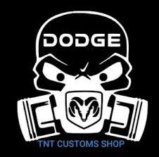 Dodge Skull Mopar Chrysler Valiant Car Bike Window Decal Sticker Ebay