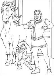 Paard Shrek En Gelaarsde Kat In Het Koninklijk Paleis Kleurplaat