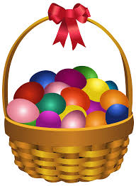 Easter Eggs in Basket Transparent PNG Clip Art Image | Gallery ...