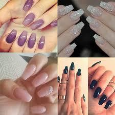 100pcs diy long ballerina nail tips