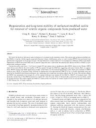 PDF) Regeneration and long-term stability of surfactant-modified zeolite  for removal of volatile organic compounds from produced water | Kerry  Kinney and Enid Sullivan Graham - Academia.edu