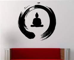 Zen Circle With Buddha Wall Decal Vinyl Sticker Art Decor Etsy Sticker Art Vinyl Wall Decals Wall Decals