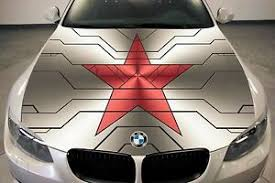 Vinyl Car Hood Wrap Full Color Graphics Decal Winter Soldier Red Star Sticker Ebay