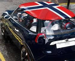 Norway Flag Roof Skin Diy Decal Korean Auto Imports