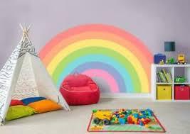 Rainbow Wall Sticker Decal Bedroom Decor Art Mural Nursery Kids Room Wc107 Ebay
