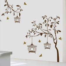 Removable Birdcage Wall Stickers Mural Art Decal For Home Sticker Bedroom Decals Living Room Bedroom Stikers Sticker On Wall Sticker On Wall Decor From Totwo2 7 51 Dhgate Com