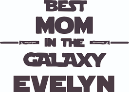 Best Mom In The Galaxy Cartoon Design Customized Wall Decal Custom Vinyl Wall Art Personalized Name Baby Girl Boy Kids Bedroom Wall Decal Room Decor Wall Sticker Decoration Size