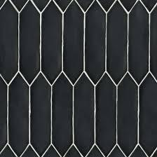 Reine 3 X 12 Wall Tile In Black Bedrosians Tile Stone