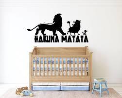Hakuna Matata Wall Decal The Lion King Cartoon Wall Sticker Simba Wall Decal Nursery Wall Decor Lk18 Nursery Wall Decals Cartoon Wall Wall Decals