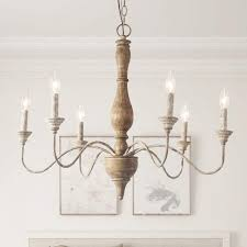lnc 6 light antique white french