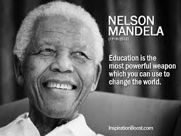 nelson mandela education quotes inspiration boost