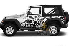 Mud Skull Graphics Decals For Jeep Jl Wrangler Vinyl Wrangler