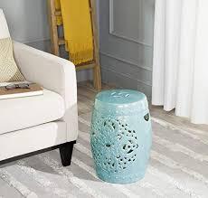 glazed ceramic decorative garden stool