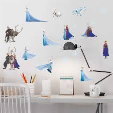 Disney Frozen Elsa Anna Princess Wall Stickers Home Decor Living Room Kids Rooms Cartoon Wall Decals Diy Wallpaper Pvc Mural Art Wall Stickers Aliexpress