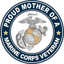 U S Marine Corps Veteran Proud Mother Decal