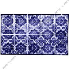 Blue Marble Quatrefoil Tile Foil Backsplash Wall Art Decal 29 5 Peel Stick Ebay