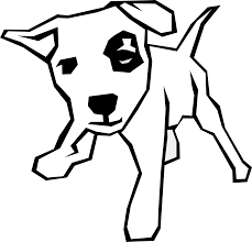 Library of christmas dog png library library black and white png ...