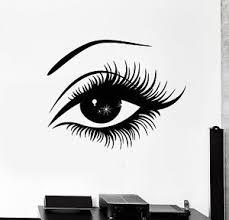 Wall Stickers Vinyl Decal Eye Lashes Hot Sexy Girl Z1064 682017266558 Ebay