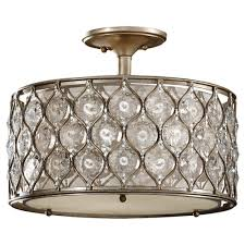 feiss lucia 3 light burnished silver