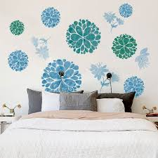 Wholesale Removable Wall Stickers Blue Flower Waterproof Pvc Decals Living Room Bedroom Wallpaper Decoration 60 90cm From China